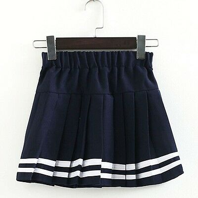 Women Girl JK Mini School Uniform Pleated Skirt Plaid Dress Cosplay Plus Size