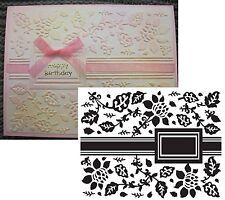 Garden Ribbon embossing folder - Ultimate Crafts Embossing folders Flowers label