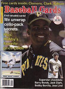 Details About 1988 Baseball Card Magazine Winsert Cards Roger Clemens Jack Clark Kirk Gibson