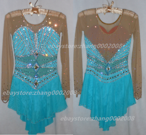 Ice Figure Skating Dress  Rhythmic Gymnastics  Twirling Competition Tap Costume