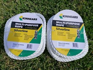 2-Coils-of-KINNEARS-Multi-Purpose-Rope-3-Strand-Poly-Silverline-10mm-x-20M-While