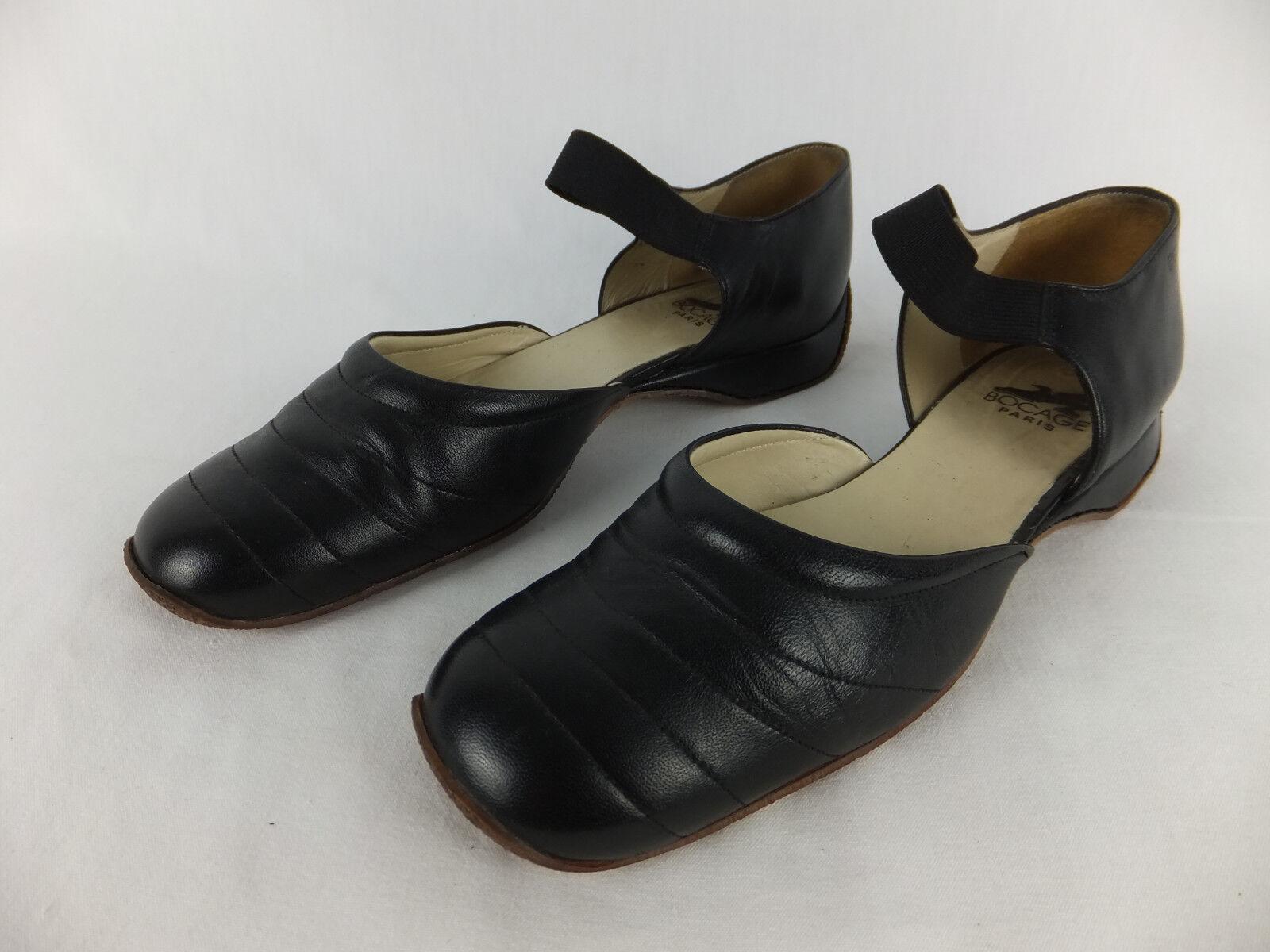 BOCAGE PARIS schwarz Luxus Schuhe 41 - schwarz PARIS - TOP Zustand - Halbschuhe - Sommerschuhe 6f3ede