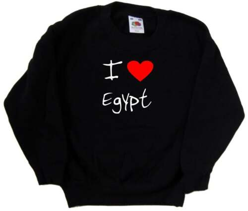 I Love Heart Egypt Kids Sweatshirt