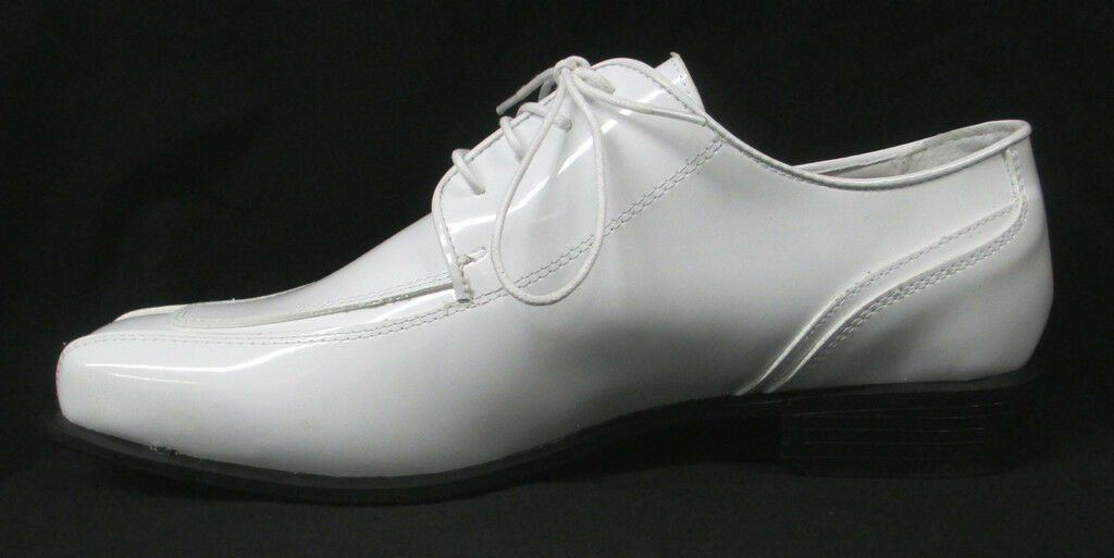 New White Jean Yves Cosmopolitan Formal Tuxedo shoes Wedding Prom Menswear 12W