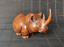 thumbnail 2 - Chinese Natural Boxwood Hand carved Exquisite Rhinoceros Statue