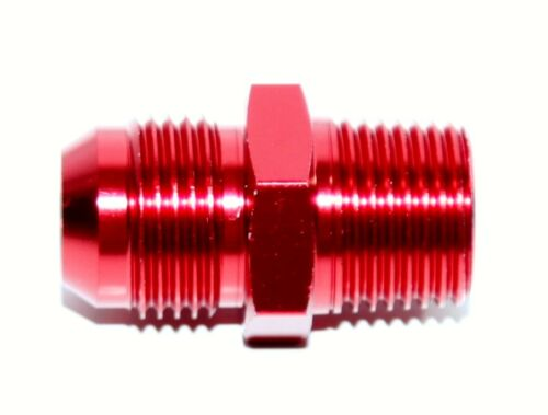 "10AN AN-10 TO 1//2/"" NPT Male Thread Aluminum Anodized Fitting Adapter RED"