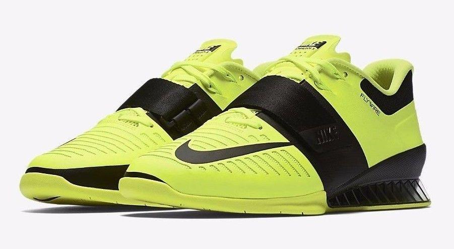 Nike romaleos 3 numero 43 di sollevamento pesi 852933 700 nuove scarpe volt / nero
