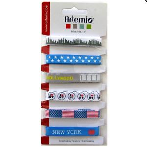 MAXI-LOT-6-RUBAN-GROS-GRAIN-BLEU-BLANC-ROUGE-NEW-YORK-USA-ETOILE-HOLLYWOOD-DIY