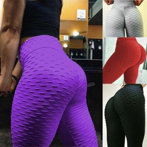 Womens Scrunch Butt Lift Yoga Pants Anti-Cellulite Gym Fitness Jogging Leggings