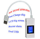 New LCD Dual USB Mini Voltage and Current Detector USB Charger Tester Meter