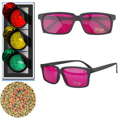 New Square Frame Corrective Color Blind Glasses Red green Colorblindness Vision