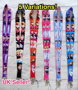 ** NOUVEAU ** Frozen longes 5 Variations!! Vendeur Britannique-Voiture Porte Clés ID Titulaire Téléphone