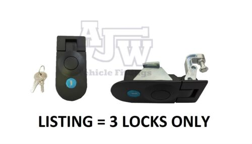 3 X Large Compression Latch / Lock Black Locking C5 Horsebox, Locker, Trailer