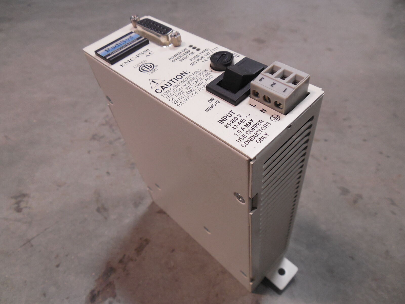USED Radisys EMC-PS50 Power Supply Module 83-0013-00