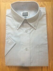 Stormchaser Mens Classic Shirt Short Sleeves Blue Polycotton Sizes 15 15.5
