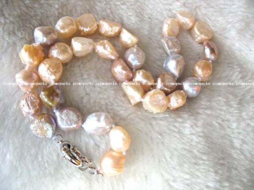 "unique freshwater pearl multicolor baroque necklace 17/"" nature wolesale beads"