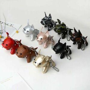 French-Bulldog-Keychain-Pompom-Key-Ring-Cute-Holder-Bag-Charm-Keyfobs-Gift-YU