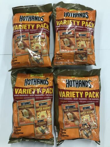 Hot Hands Toe /& Body Warmer Variety Packs LOT OF 4 Hand HotHands