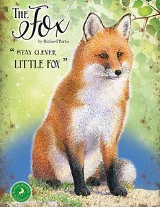 FOX-COUNTRY-WILDLIFE-ANIMAL-METAL-PLAQUE-TIN-SIGN-NOSTALGIC-VINTAGE-STYLE-1259