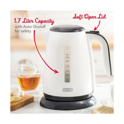 Cool... Water Heater with with Rapid Boil Dash DEZK003WH Easy Electric Kettle