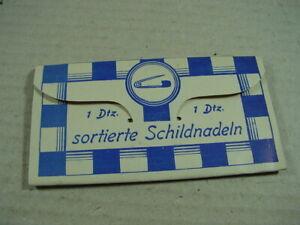 1-Dtz-sortierte-Schildnadeln-Sicherheitsnadeln-wohl-um-1930-Laenge-2-9-5-cm