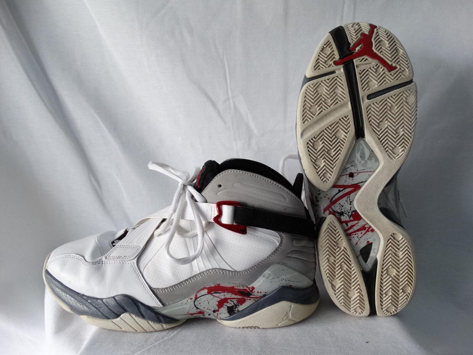 Nike Air Jordan 8 (VIII) Retro Basketballschuhe weiß-grau EU 45 US 11