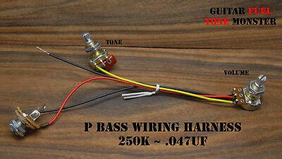 TONE MONSTER P Precision Bass Guitar Wiring Harness Volume Tone 250K .047uf  MIK   eBay   Bass Guitar Output Jack Wiring      eBay