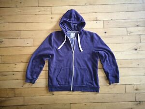 Burton-Men-039-s-039-Zip-Through-039-Hoody-Purple-XL-Great-Condition