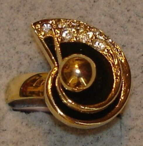 Ladies' Vintage DAC 18KT Gold Overlay Crystal Motion Swinger Rings in Size 4