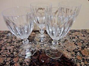 4 Mikasa Crystal Park Lane Stem Wine Glasses Glass W Germany Sn112