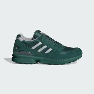 Adidas-Originals-Zx-8000-Homme-Vert-Gris-Blanc-Chaussures-Baskets-Baskets-Taille-UK-6-12