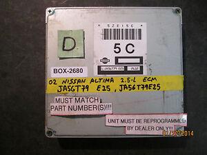 Details about ^^ 2002 02 NISSAN ALTIMA 2 5L ECM #JA56T79 E25 JA56T79E25  (BOX-2680)