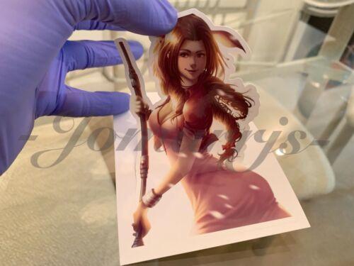 Final Fantasy Gaming Aerith Gainsborough Sticker Decals Vinyl ff 7 anime vii B.