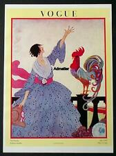 VOGUE FASHION MAGAZINE COVER POSTER 1918 VIVE LA FRANCE! H DRYDEN ART DECO PRINT
