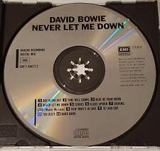 David Bowie - Never Let Me Down, EMI AMERICA CDP 7 46677 2, Japan CD