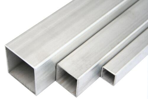 Edelstahl Quadratrohr Blank Vierkantrohr Profilrohr Stahl Rohr V2A