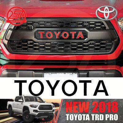 Premium 2016 2017 2018 Toyota Tacoma TRD PRO Grille Decal Letters Bonus Decal