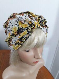 Summer-hat-hijab-hair-covered-Chemo-size-M-L61cm-Boho-Gypsy-Festival-Turban-hat