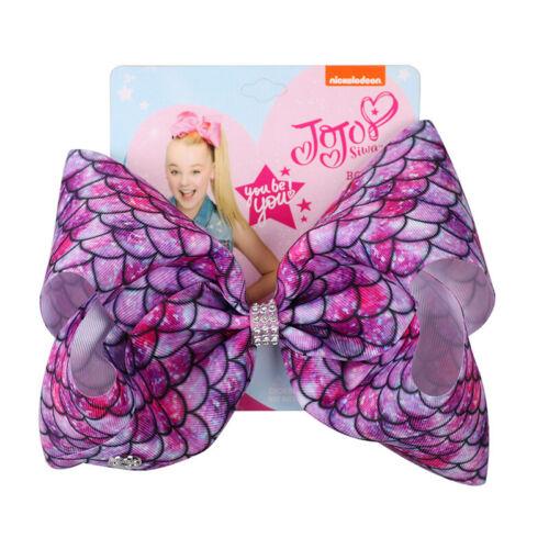 8inch JOJO SIWA RAINBOW diamond hair bows with Alligator clip girls kids bowknot