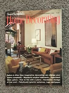 Details about Spring / Summer 1969 Issue of \'House Beautiful\'s Home  Decorating\' Magazine
