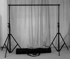 Adjustable Background Support Stand Photo Backdrop Crossbar Kit Photography 2x2m