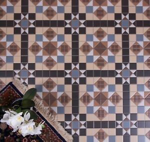 Details About Tile Deals Samples Ealing Mosaic Pattern Victorian Style Wall Floor Tiles