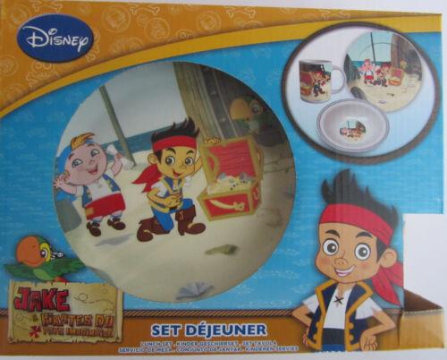 NOUVEAU 3 pcs enfants vaisselle frühstücksset pays imaginaire-pirates Disney Jake OVP