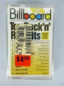 Vintage-NEW-Billboard-Top-Rock-039-n-039-Roll-Hits-1970-Cassette-Tape-Sealed-Rock