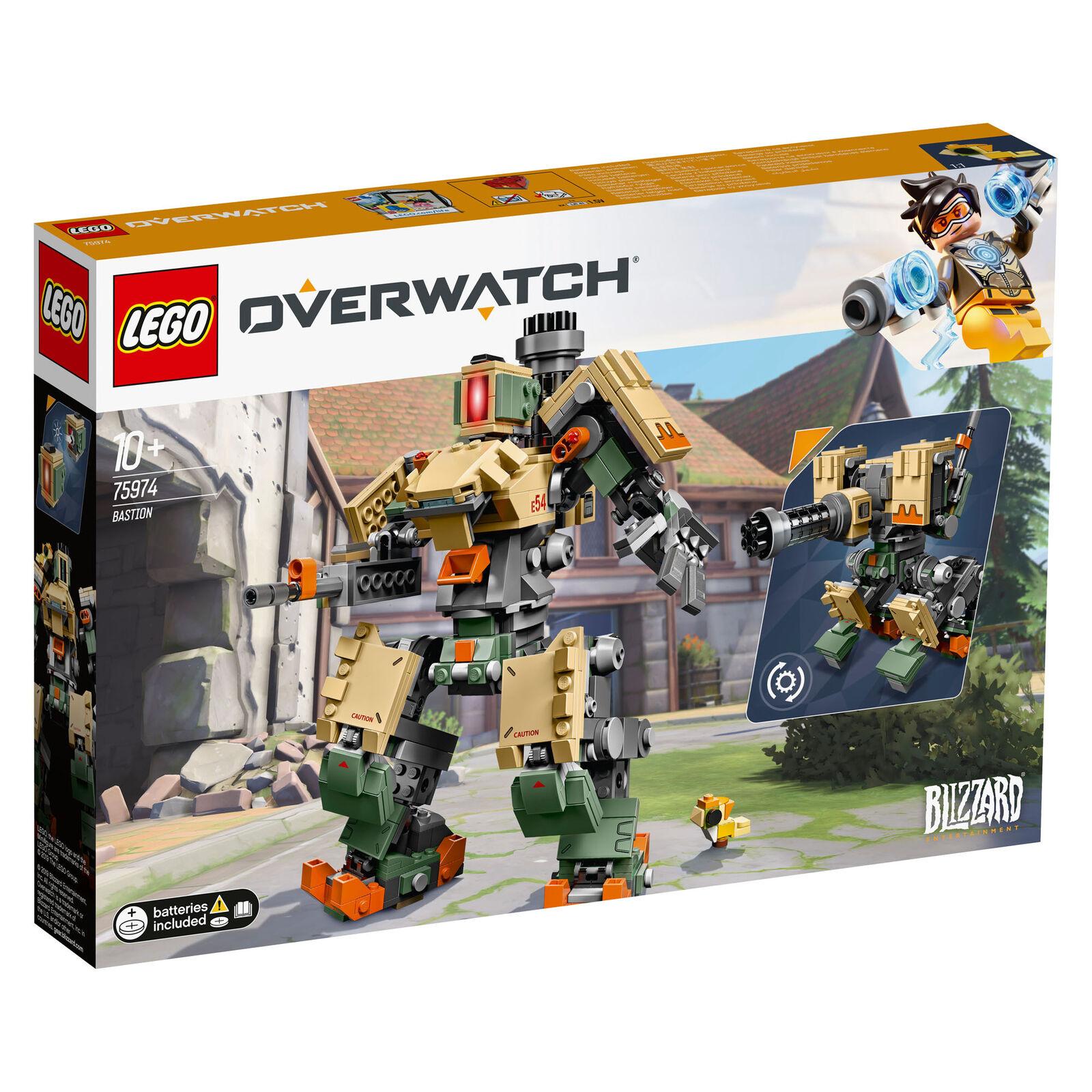 75974 LEGO Overwatch Bastion personnage figurine avec armes 602 Pièces Âge 10yrs+