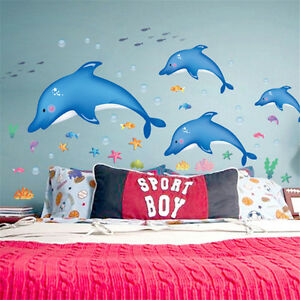 Image Is Loading Dolphin Night Lights Decal Wall Stickers Children Bedroom