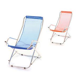 Sedia dondolina sdraio pieghevole alluminio textilene spiaggia mare relax 05352