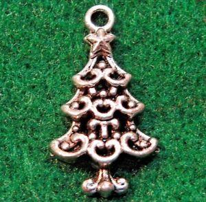 50pcs wholesale tibetan silver christmas tree charms pendants ear image is loading 50pcs wholesale tibetan silver christmas tree charms pendants aloadofball Choice Image