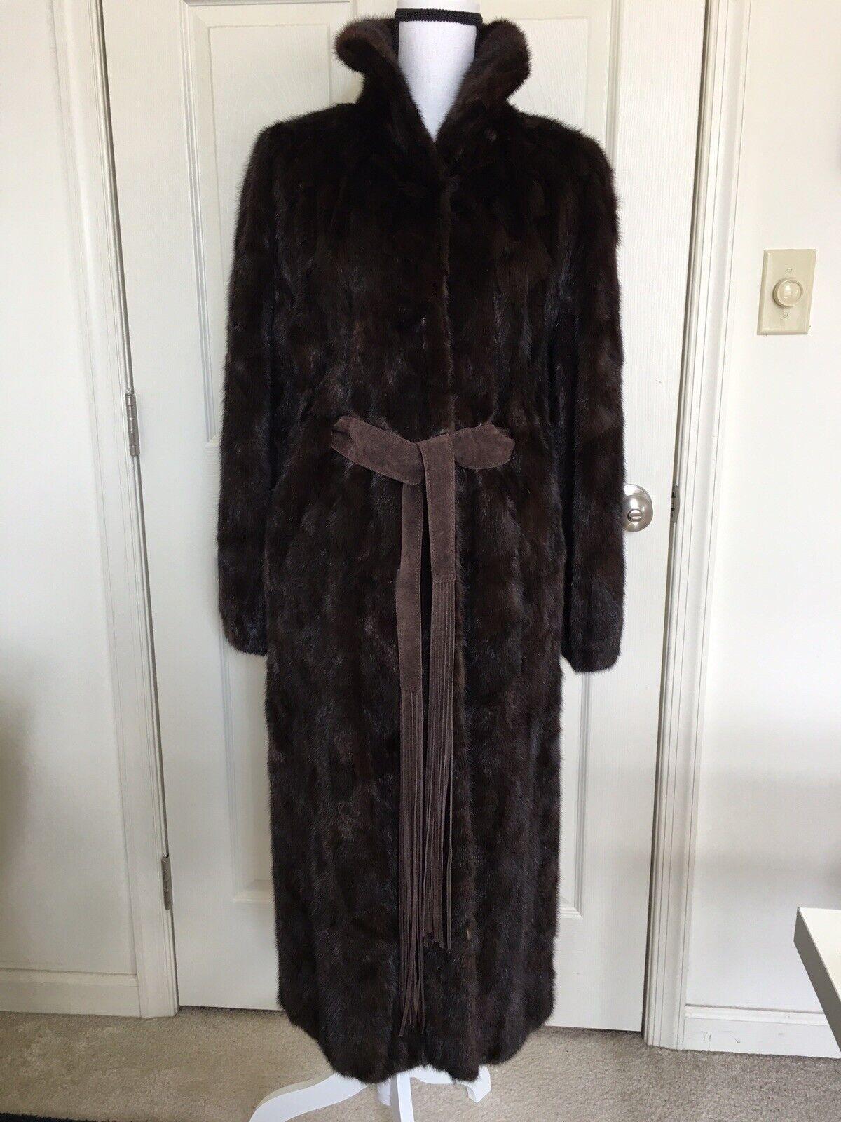 """Dark Brown Mink Fur Coat Full Lenght  """"Diane Furs… - image 4"""