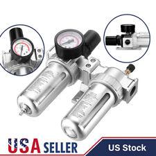 G12 Air Compressor Filter Oil Water Separator Trap Tools With Regulator Gauge Us